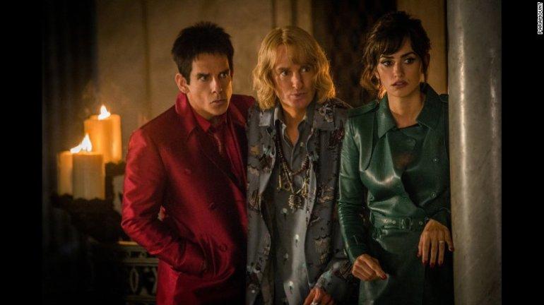 """Ben Stiller, Owen Wilson and Penélope Cruz in ill-received sequel """"Zoolander 2."""""""