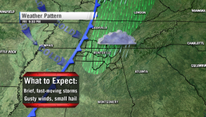 A few heavy storms possible Friday night