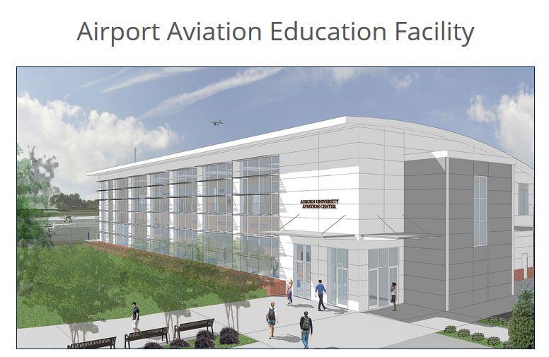 Airport Aviation Education Facility Rendering (Image: Auburn.edu)