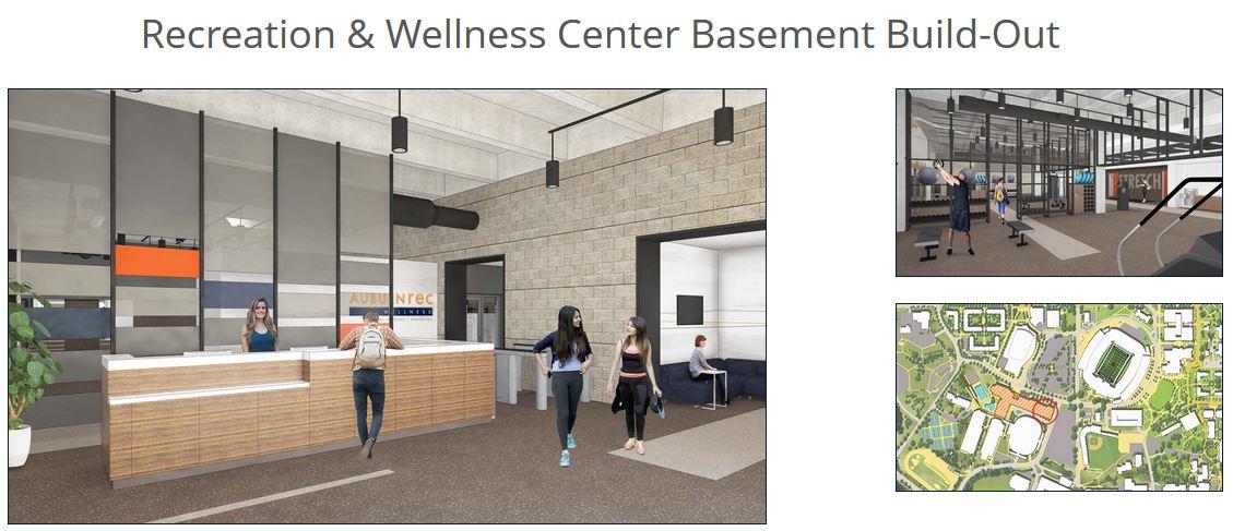 Recreation & Wellness Center Basement Build-Out (Image: Auburn.edu)