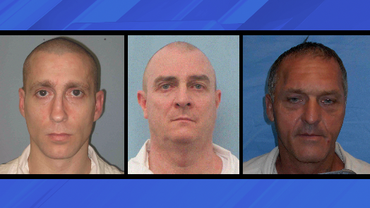 Jonathan Keith Kennedy (left) Michael Ray Morrison (middle) James Brent Brown (right) (Courtesy ADOC)