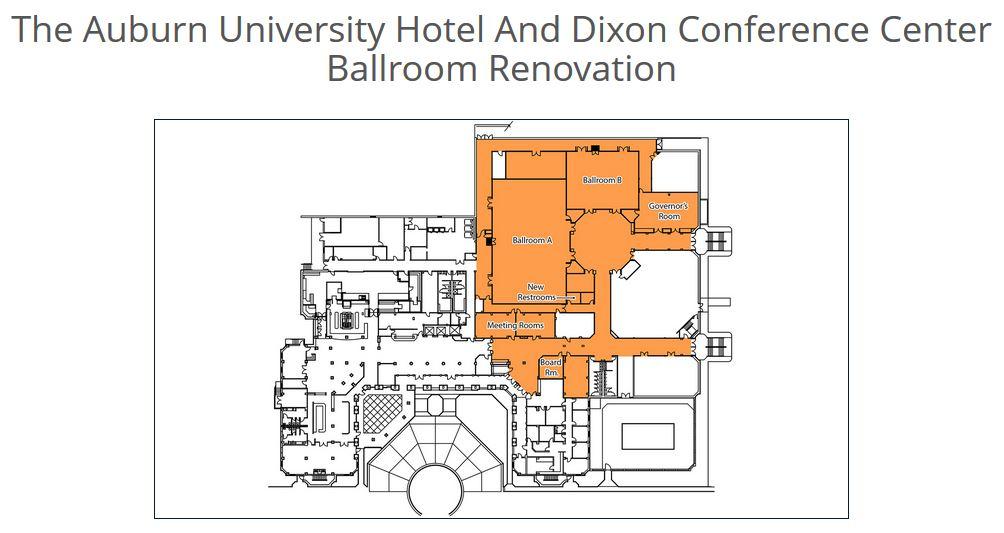The Auburn University Hotel and Dixon Conference Center Ballroom Renovation (Image: Auburn.edu)