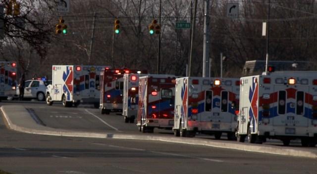 EMS procession