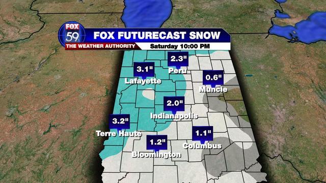 Snowfall Forecast CITIES