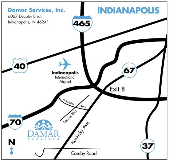 damar location map