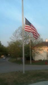 flags half staff for fallen IMPD officer