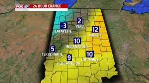 24 hour temp change