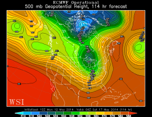 500 MB Euro Fcst 8 AM Friday