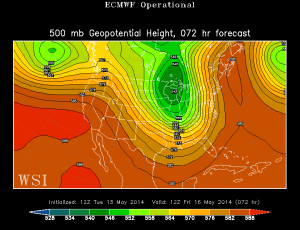 Euro 500 mb Friday Forecast