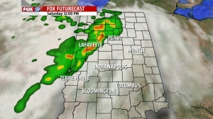 RPM model 12 Noon Saturday forecast radar