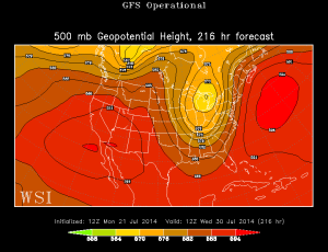 2nd and even cooler push of air to close out the month of july