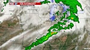RPM forecast radar Wednesday evening