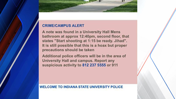 Indiana State alert WEB