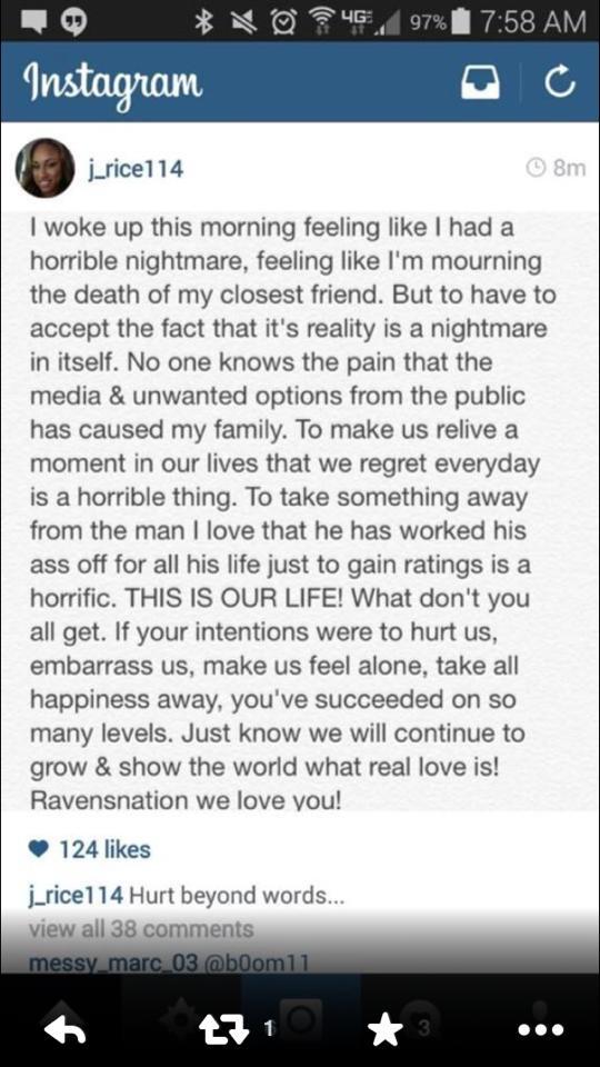 J Rice instagram post