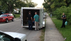 IMPD officers find the trailer empty.