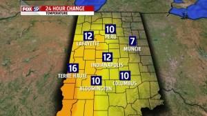 4PM 24 hour temp change