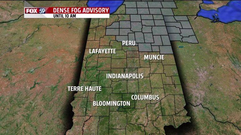 dense fog advisory Thursday Oct 23