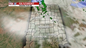 12 noon Saturday forecast clouds and radar