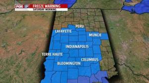 Freeze Warning Saturday mornign