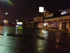 Mike Davis/Fox59 Sheriff's deputy's car and gun stolen from Ace Hardware parking lot at 11th Street and Arlington.
