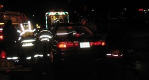 Photo of crash scene from Bartholomew County Sheriff's Department