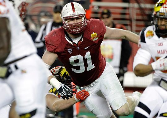 The Colts selected DE Henry Anderson in the third round (93rd overall) of the NFL Draft. (Photo: Marcio Jose Sanchez / Associated Press)