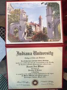 Hannah Wilson's diploma