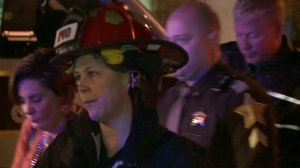 A FOX59 camera captured images of Monserrate Shirley and Mark Leonard after the blast.
