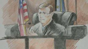 Judge John Marnocha (Sketch by Dave Blodgett)