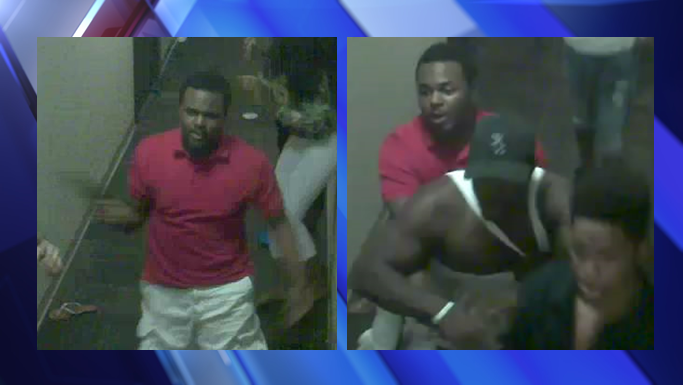 Surveillance photos of the suspect sought by police