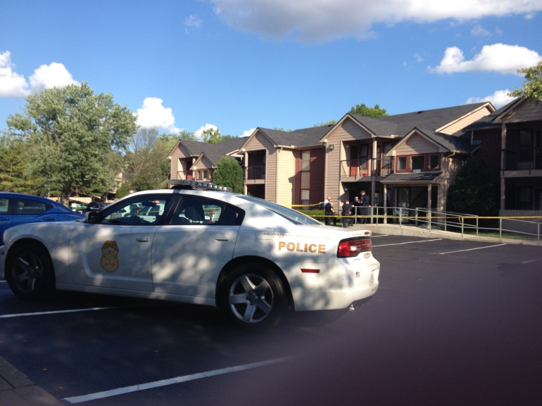 Scene of shooting on Woodfront Drive.