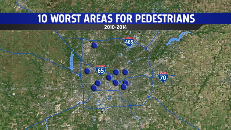 Map of the 10 worst areas.
