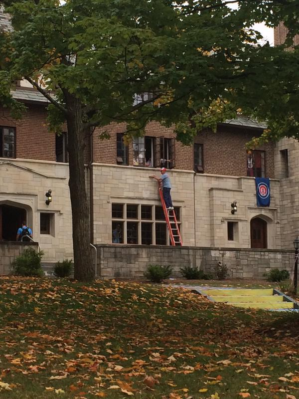 ATO letters removed from house Thursday after national office shuts down IU frat (photo credit: Kendall Downing)