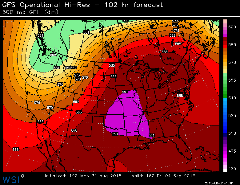 One of the hotter Labor Day weekends with 7 straight days in the 90s