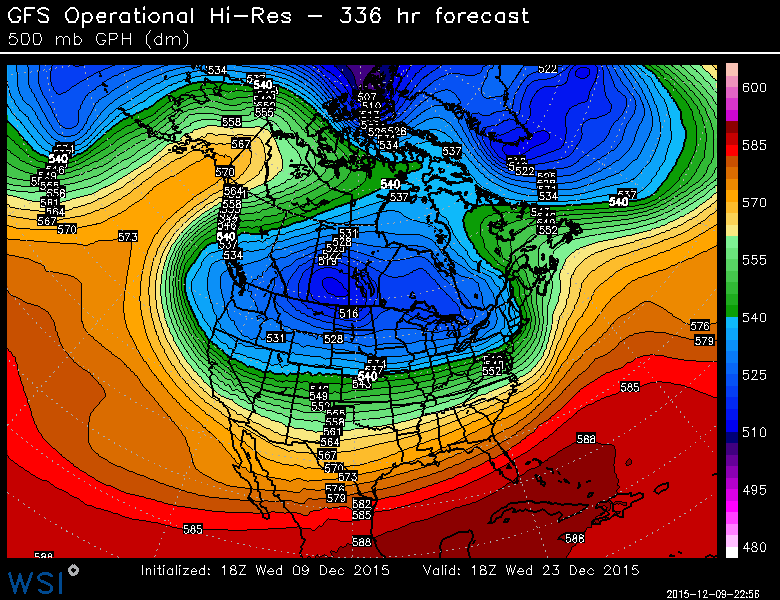 This level warmth cannot hold on.  A major patter shift is still coming as we head toward Christmas