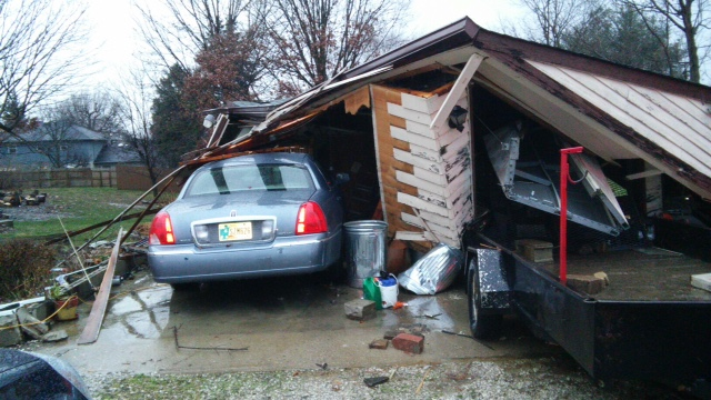 Tornado damage near Smith Valley Rd near Greenwood