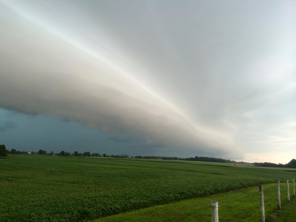 July 13th shelf cloud rolling along
