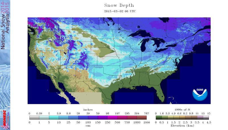 Snow cover 2-2-2015