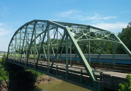 US 41 Bridge over Pigeon Creek in Vanderburgh County / courtesy of INDOT