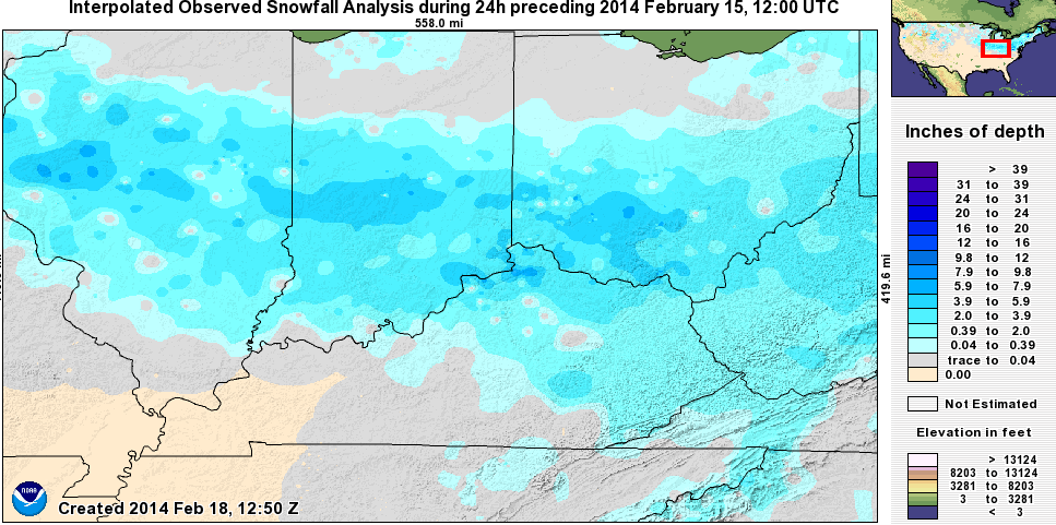 Valentines Day 2014 was the snowiest on record