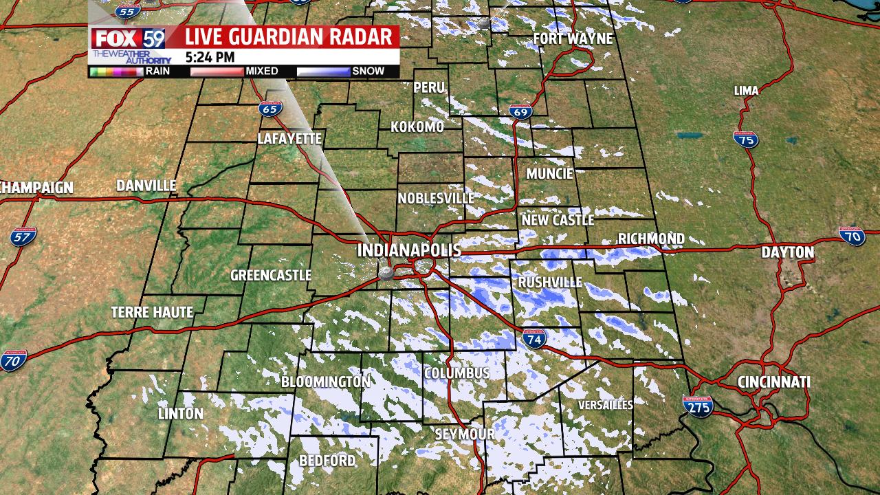 Radar image 5:30 Friday