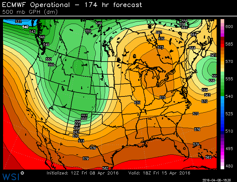 pattern chancge next week will bring sunny and warmer weather for extended spell