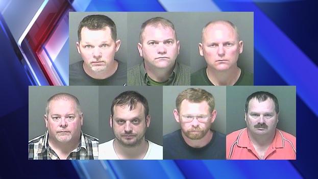 Seven men arrested
