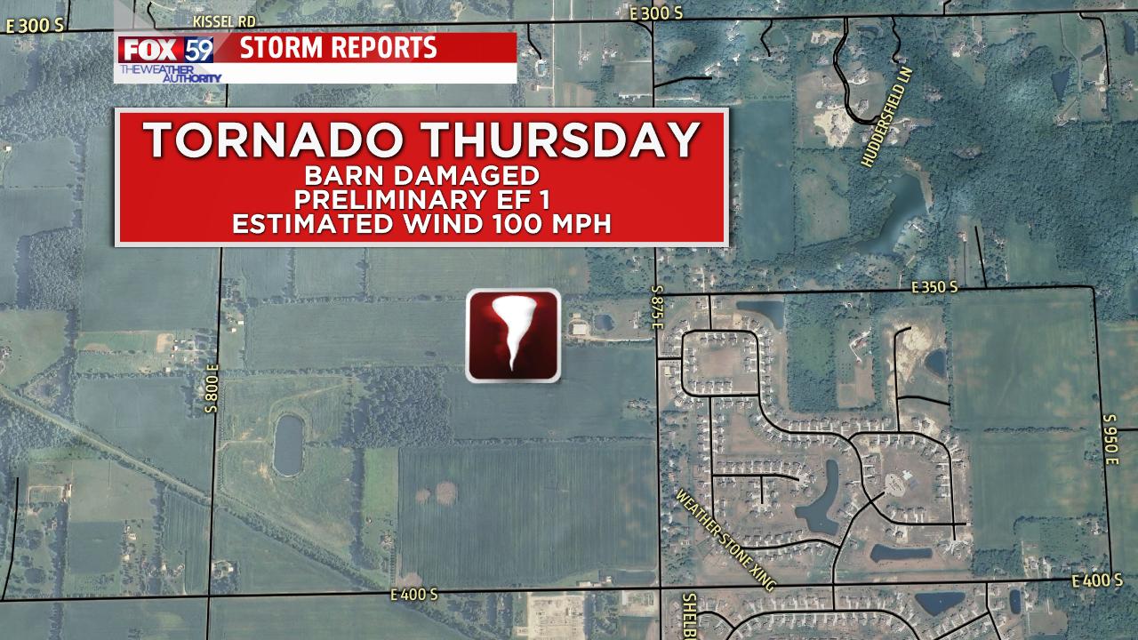 Tornado storm report