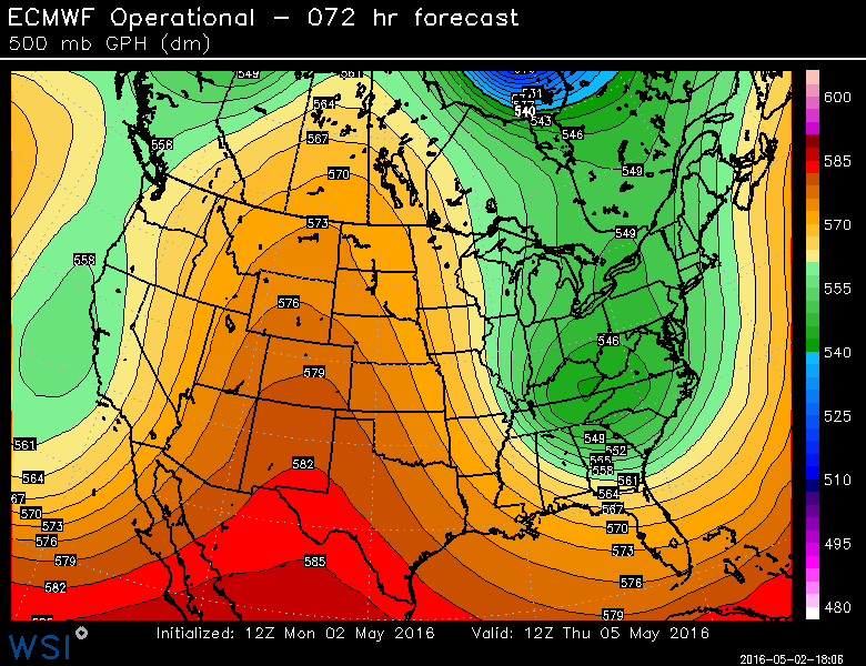 Cool pattern for much of the work week.