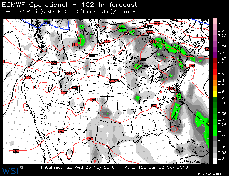 EURO Race day weather map