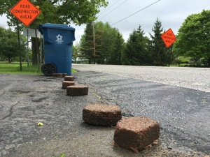 One resident on Whiteland Road hopes bricks will keep drivers from turning around in her driveway.