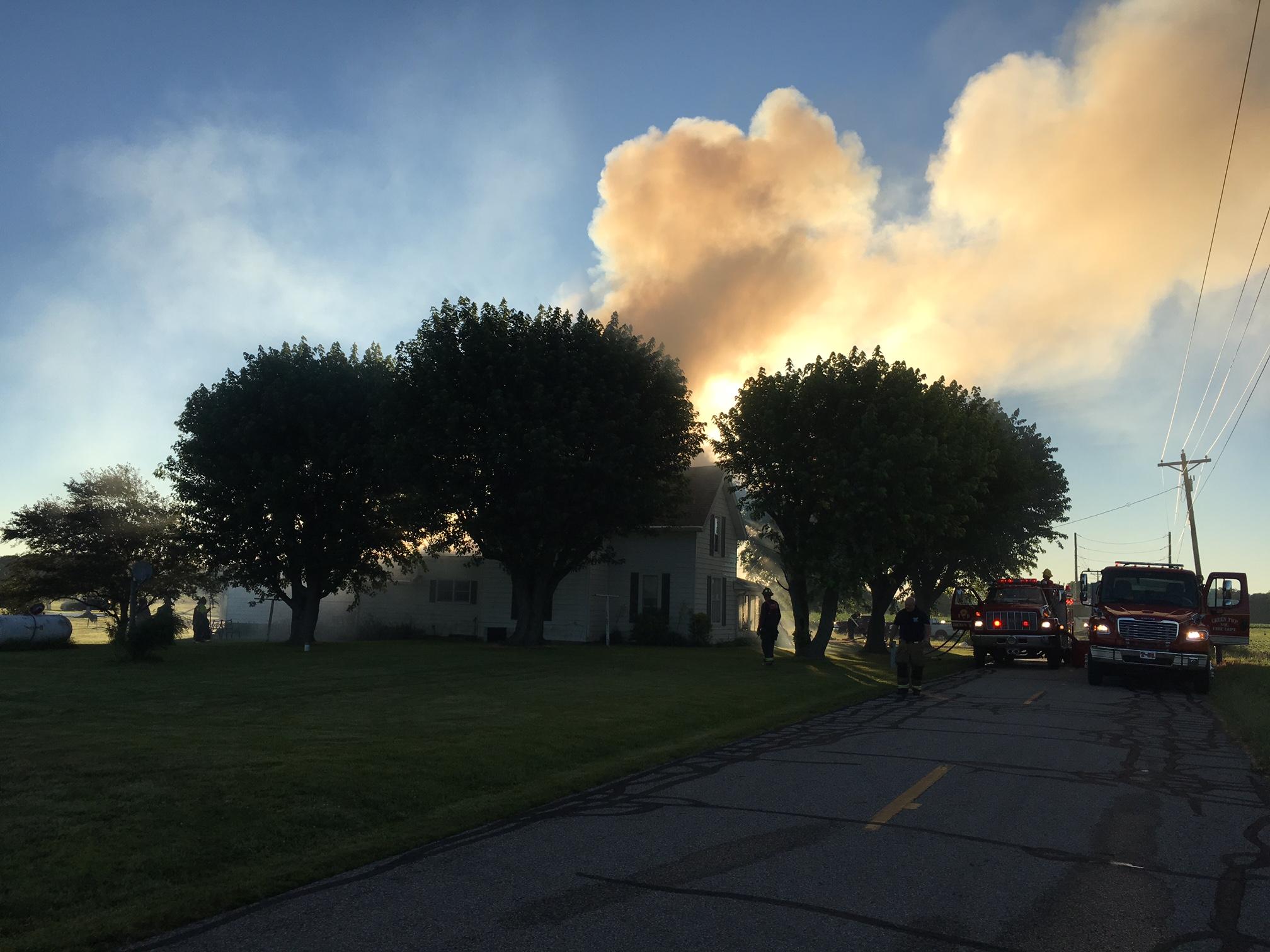 Hancock County house fire
