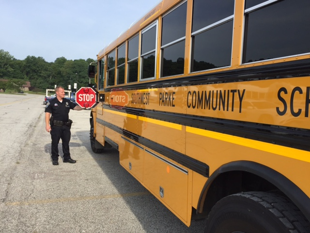 Putnamville school bus inspection -(picture courtesy of Indiana State Police)