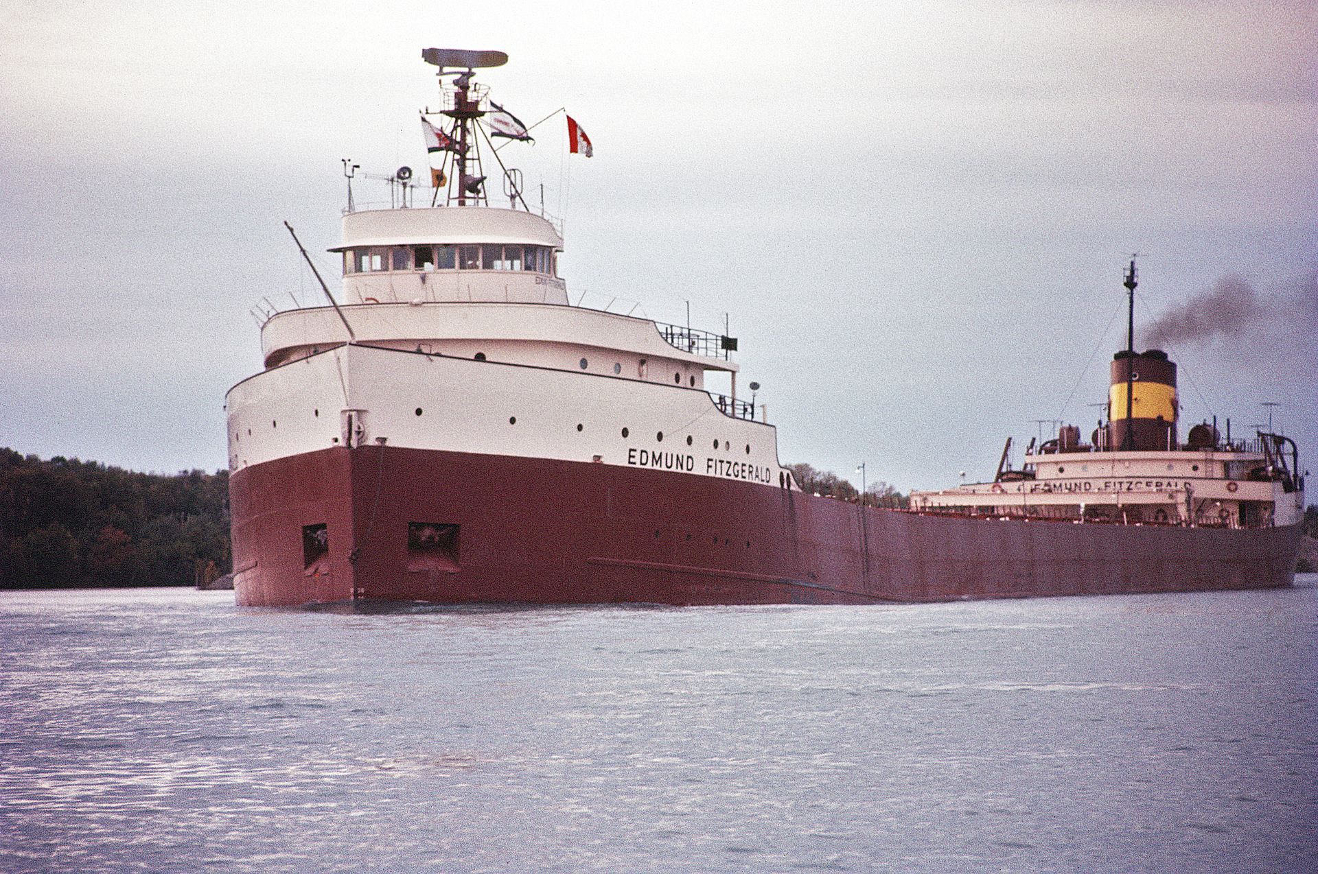 The Edmund Fitzgerald sank in Lake Superior on this date in 1975
